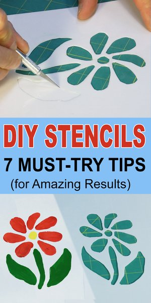 How to Make Stencils - including painting without bleeding, stenciling tips, homemade DIY crafts.