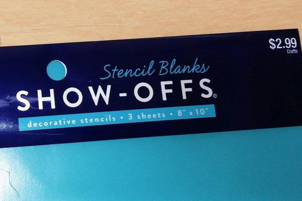 Blank Stencil sheet DIY homemade stenciling
