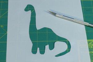 Dinosaur pattern stencil design.