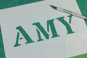 DIY name stencil.