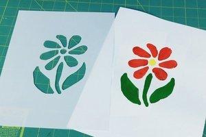 Paint flower stencil - EXPAND