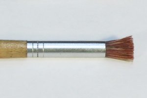 Stencil brush for painting or stenciling.