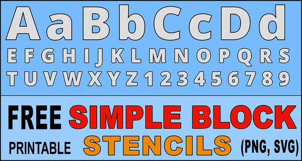 Large Letter Stencils (Printable Alphabet Lettering Font)