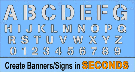 FREE bold letter stencils, font, printable number and alphabet downloadable patterns with designed gap typeface.