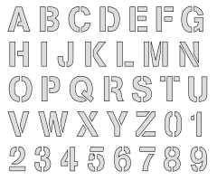 Free printable All printable stencils. letter stencil, font, template, alphabet, number large thick typeface, bold, download, svg, png, pdf, jpg, pattern.