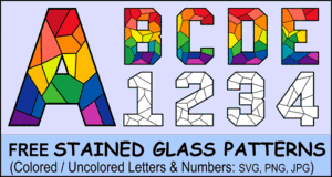 Stained Glass Lettering