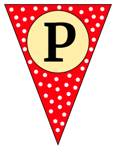 P  - triangle pennant. Custom triangle pennant flag, DIY, stencil, pattern, template, clipart, printable alphabet letters and numbers, happy birthday sign, welcome sign, back to school, bulletin board, font, cricut, silhouette, vector, svg.