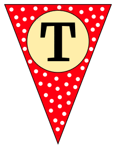 T  - triangle pennant. Custom triangle pennant flag, DIY, stencil, pattern, template, clipart, printable alphabet letters and numbers, happy birthday sign, welcome sign, back to school, bulletin board, font, cricut, silhouette, vector, svg.