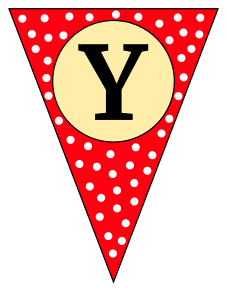 Y  - triangle pennant. Custom triangle pennant flag, DIY, stencil, pattern, template, clipart, printable alphabet letters and numbers, happy birthday sign, welcome sign, back to school, bulletin board, font, cricut, silhouette, vector, svg.