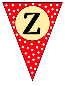 Z  - triangle pennant. Custom triangle pennant flag, DIY, stencil, pattern, template, clipart, printable alphabet letters and numbers, happy birthday sign, welcome sign, back to school, bulletin board, font, cricut, silhouette, vector, svg.