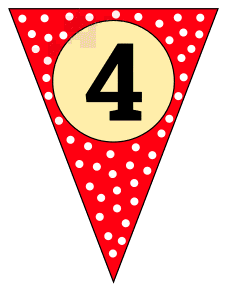 4  - banner flag. Custom triangle pennant flag, DIY, stencil, pattern, template, clipart, printable alphabet letters and numbers, happy birthday sign, welcome sign, back to school, bulletin board, font, cricut, silhouette, vector, svg.
