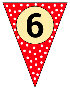 6 - banner flag. Custom triangle pennant flag, DIY, stencil, pattern, template, clipart, printable alphabet letters and numbers, happy birthday sign, welcome sign, back to school, bulletin board, font, cricut, silhouette, vector, svg.