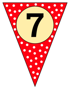 7  - banner flag. Custom triangle pennant flag, DIY, stencil, pattern, template, clipart, printable alphabet letters and numbers, happy birthday sign, welcome sign, back to school, bulletin board, font, cricut, silhouette, vector, svg.