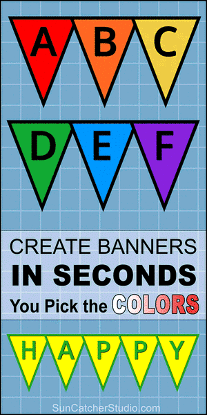 Triangle banner letters, pennant, DIY, templates, flag, alphabet, printable, stencils, patterns, font letters, numbers, welcome signs, bulletin boards, happy birthday signs, free, decorations, etc.