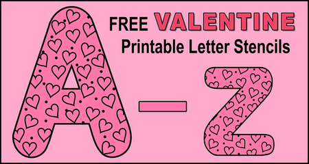 Printable Valentine letter stencils (Love font). Use these number stencils, patterns, templates, clip art, designs for decorations, Cricut cutting machines, coloring pages and sheets.