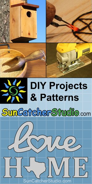 SunCatcherStudio - DIY project ideas along with patterns and stencils.  Learn how to create bird houses, download and print free patterns.