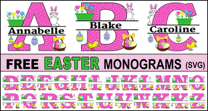 Easter Clipart Monograms.