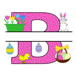 Free Easter monogram font B bunny egg basket chicken clipart alphabet letter split customize or personalize stencil template to print or download vector svg laser vinyl circuit silhouette.