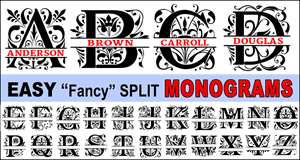 Fancy Font Monograms.