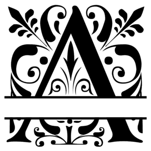 Fancy Split Font Monogram Letters Patterns Monograms Stencils Diy Projects