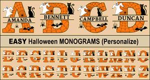 Halloween Monograms.