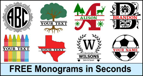 Monograms Letters Initials Split Personalize Free Online Maker Patterns Monograms Stencils Diy Projects