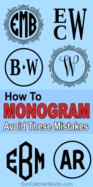 How to Monogram - order of initials, wedding gifts, married couple, single initial, etiquette, first name, middle name, last name surname.