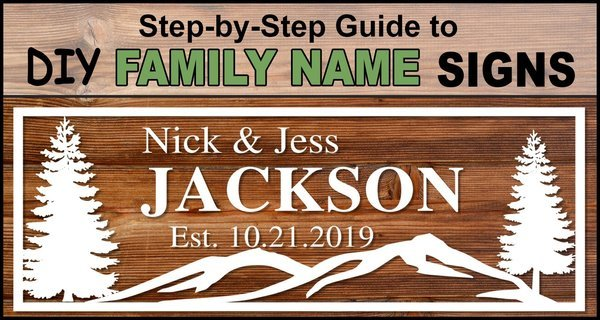 Last Name Signs - DIY Family Established Monogram free printable signs.  Great for wedding and anniversary gifts, bridal shower presents, and wood home wall decor. Cricut, Silhouette, and woodworking projects and crafts.