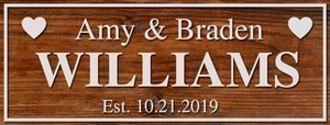 Wall decor family sign