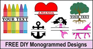 Monogrammed Designs.