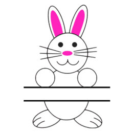 Free Eater-Bunny split monogram stencil template clipart print download vector circuit silhouette svg laser scroll saw.