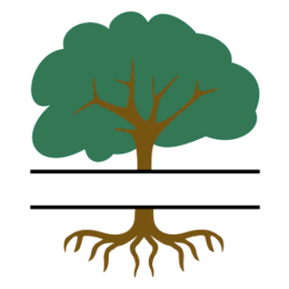 Free Tree-Roots split monogram stencil template clipart print download vector circuit silhouette svg laser scroll saw.