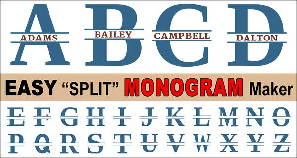 Free Split Letter Font Monogram Maker: Customize Your Name