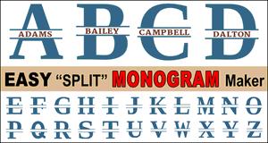 Split Letter Monograms.