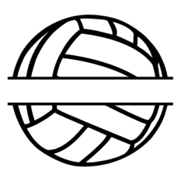 Free Volleyball split monogram sports stencil template clipart print download vector circuit silhouette svg laser scroll saw.
