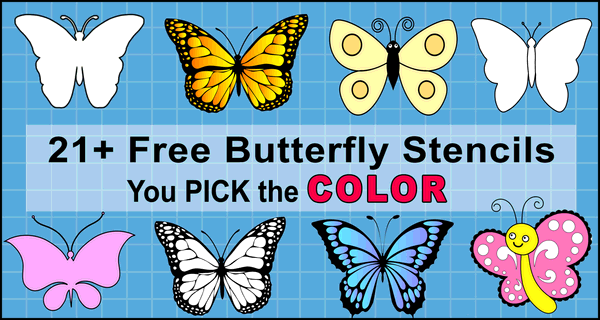 Butterfly SVG Files (Printable Stencils, Templates, Patterns, & Clipart)