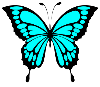 Blue Butterfly SVG Template, butterfly svg stencil, free template, pattern, clipart design, cricut, silhouette, scroll saw, coloring page.