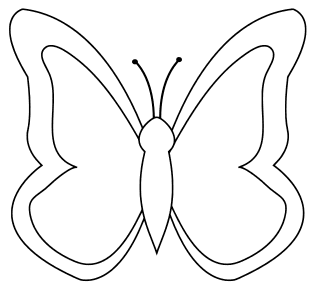 Butterfly Coloring Pattern, butterfly svg stencil, free template, pattern, clipart design, cricut, silhouette, scroll saw, coloring page.