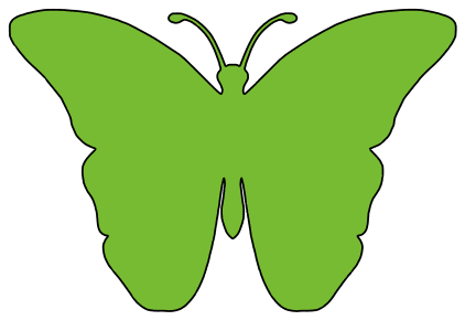 Butterfly Silhouette, butterfly svg stencil, free template, pattern, clipart design, cricut, silhouette, scroll saw, coloring page.