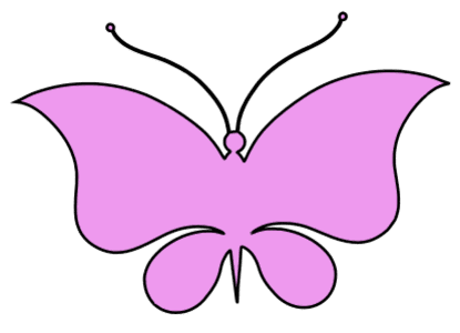 Butterfly Template, butterfly svg stencil, free template, pattern, clipart design, cricut, silhouette, scroll saw, coloring page.