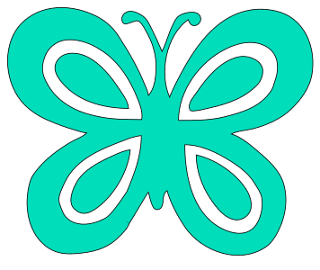 Butterfly Wall Stencil, butterfly svg stencil, free template, pattern, clipart design, cricut, silhouette, scroll saw, coloring page.