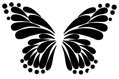 Butterfly Wings Stencil for Wall, butterfly svg stencil, free template, pattern, clipart design, cricut, silhouette, scroll saw, coloring page.