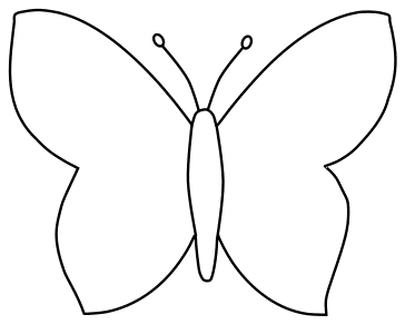 Free Butterfly Outline, butterfly svg stencil, free template, pattern, clipart design, cricut, silhouette, scroll saw, coloring page.