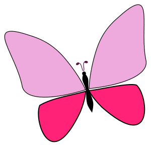 Free Butterfly Vector Clipart, butterfly svg stencil, free template, pattern, clipart design, cricut, silhouette, scroll saw, coloring page.