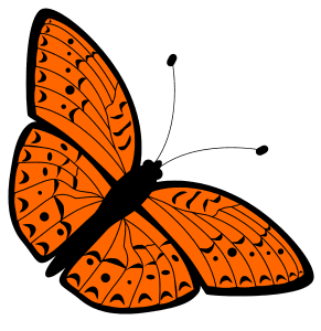 Garden Butterfly Stencil, butterfly svg stencil, free template, pattern, clipart design, cricut, silhouette, scroll saw, coloring page.