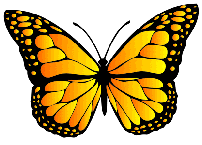 Monarch Butterfly Design, butterfly svg stencil, free template, pattern, clipart design, cricut, silhouette, scroll saw, coloring page.