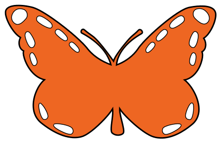 Monarch Butterfly Stencil, butterfly svg stencil, free template, pattern, clipart design, cricut, silhouette, scroll saw, coloring page.