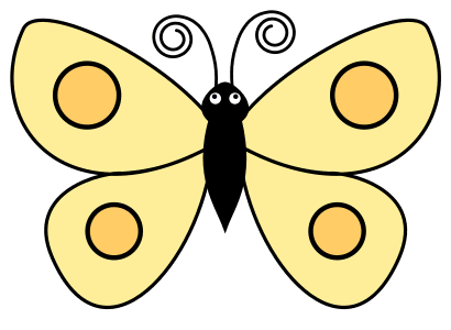 Printable Butterfly Clipart, butterfly svg stencil, free template, pattern, clipart design, cricut, silhouette, scroll saw, coloring page.