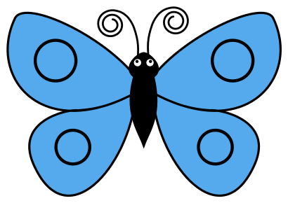 Printable Butterfly Template, butterfly svg stencil, free template, pattern, clipart design, cricut, silhouette, scroll saw, coloring page.