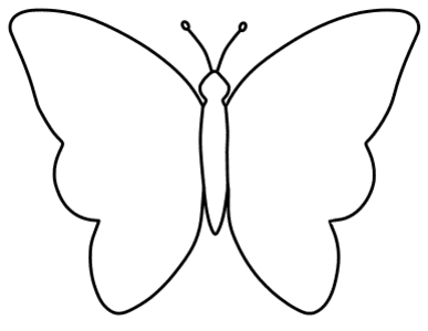 Simple Butterfly Wall Stencil, butterfly svg stencil, free template, pattern, clipart design, cricut, silhouette, scroll saw, coloring page.